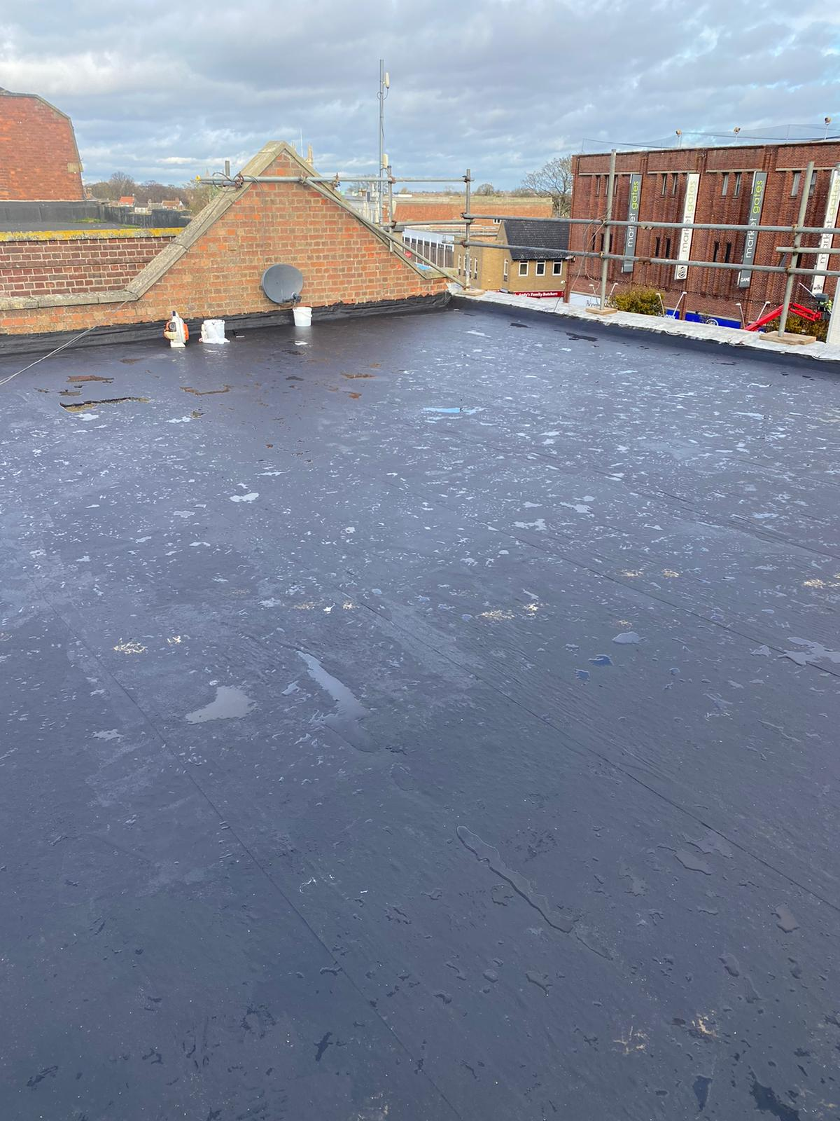 laying Widopan FD in anthracite grey, liquid waterproofing, commercial, warranty, Great Yarmouth